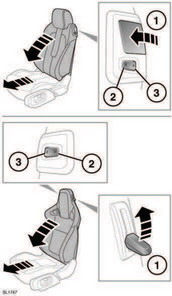 1. Lift the locking lever and pivot the seatback