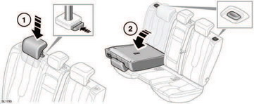 Folding and raising the rear seats
